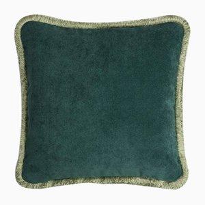 Coussin Happy Pillow Vert Clair et Vert Forêt de Lo Decor