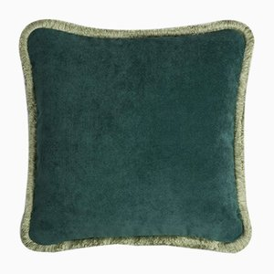 Happy Pillow in Forest and Light Green from Lo Decor