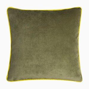 Cuscino Happy Frame verde e giallo di Lo Decor