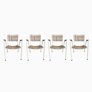 Danish Stacking Garden Chairs from Daneline, 1960s, Set of 4