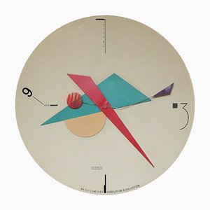 Constructivist American Wall Clock by Canetti for Artec, 1980s