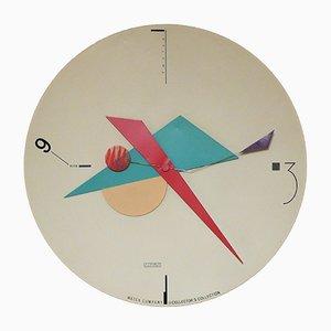 Konstruktivistische amerikanische Wanduhr von Canetti für Artec, 1980er
