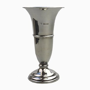 Vase Trompette Vintage en Argent, Royaume-Uni, 1970s