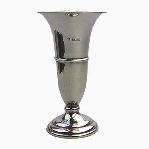 Vintage British Silver Trumpet Vase, 1970s