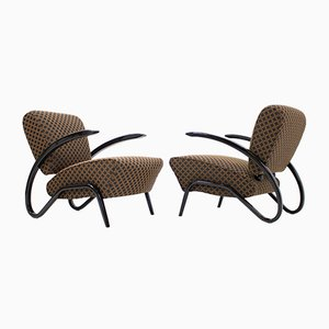 Model H-275 Armchairs by Jindrich Halabala for UP Závody, 1936, Set of 2