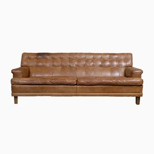 Mid-Century Model Merkur Leather Sofa by Arne Norell from Arne Norell AB, 1960s