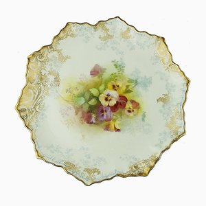 Antique English Dessert Plates from Royal Doulton Burslem, Set of 7
