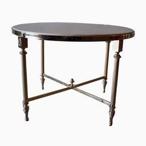 Table Basse Mid-Century en Bronze, Laiton et Marbre, 1950s