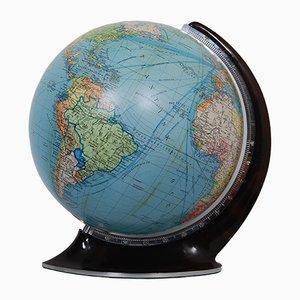 Globe Illuminé en Verre par Columbus Verlag Paul Oestergaard, Allemagne, 1950s