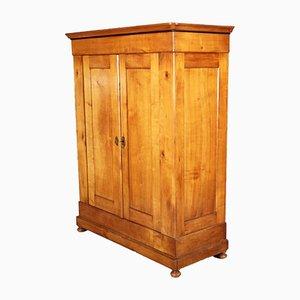 Mueble alemán Biedermeier antiguo de cerezo