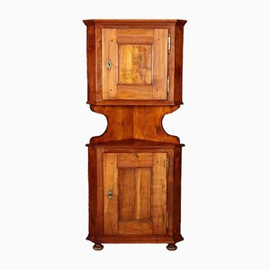 Antique German Biedermeier Corner Cabinet