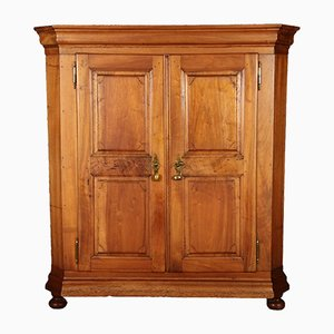 Antique Biedermeier Swiss Walnut Cabinet