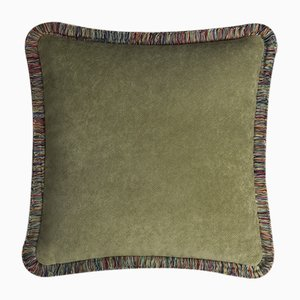 Happy Pillow in Peru and Green from Lo Decor