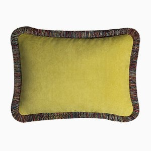 Happy Pillow in Peru & Gelb von Lo Decor