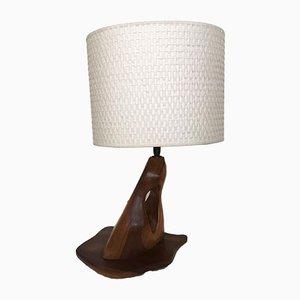 Vintage Teak Table Lamp, 1970s