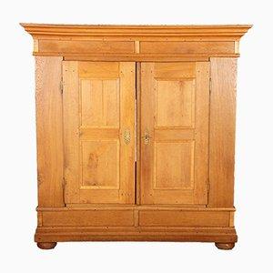 Antique German Biedermeier Oak Cabinet