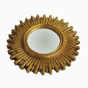 Belgischer Mid-Century Spiegel mit Rahmen in Sonnen-Optik, 1960er