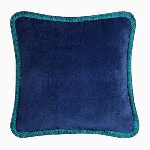 Coussin Happy Pillow Bleu Nuit et Bleu Canard de Lo Decor