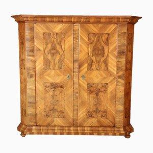 Antique 18th Century Swiss Baroque Walnut Wardrobe