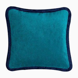 Happy Pillow in Teal and Blue Night from Lo Decor