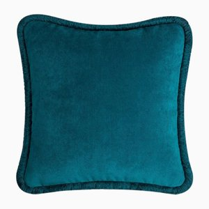 Happy Pillow in Teal from Lo Decor