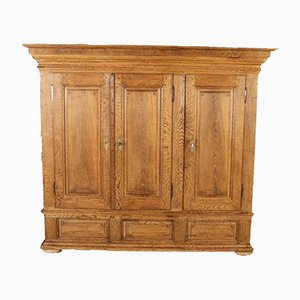 Antique 19th Century Baroque Biedermeier Oak Cupboard