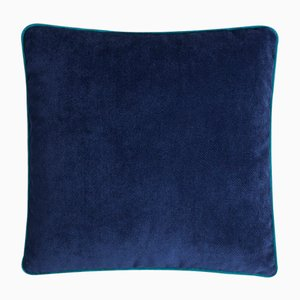 Happy Frame Pillow in Blue and Tiffany from Lo Decor