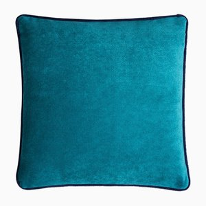 Happy Frame Pillow in Tiffany and Blue from Lo Decor