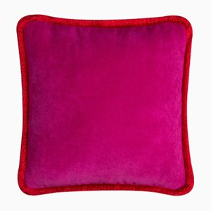 Happy Pillow in Fuchsia and Red from Lo Decor