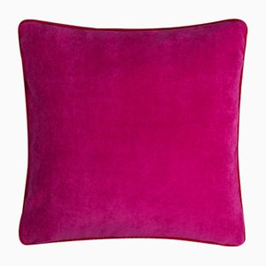 Happy Frame Pillow in Fuchsia and Red from Lo Decor
