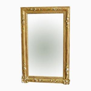 Französischer Mid-Century Spiegel mit vergoldetem Rahmen