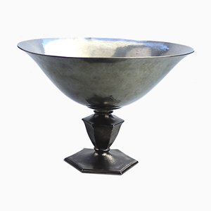 Art Deco Pewter Bowl by Just Anderson, 1920s