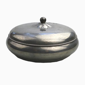 Pewter Lidded Bowl by Just Anderson, 1930s