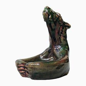 Piatto in ceramica di Michael Andersen, anni '20
