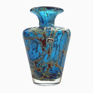 Vintage Maltese Glass Vase by Michael Harris from Mdina, 1970s