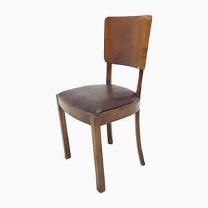Italienischer Mid-Century Stuhl aus Nussholz, 1950er