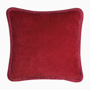 Happy Pillow in Garnet from Lo Decor