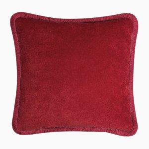 Happy Pillow in Granatrot von Lo Decor
