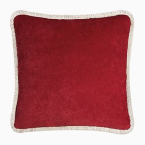 Happy Pillow in Garnet and Beige from Lo Decor