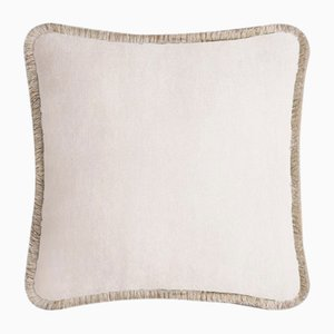 Happy Pillow in Light Beige and Beige from Lo Decor