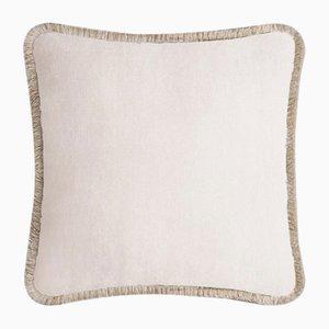Happy Pillow in hellem Beige & Beige von Lo Decor