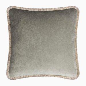 Happy Pillow in Hellgrau & Beige von Lo Decor