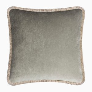 Happy Pillow in Light Grey and Beige from Lo Decor