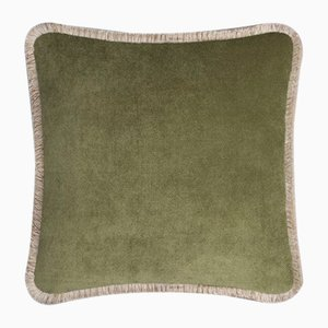 Happy Pillow in Light Green and Beige from Lo Decor