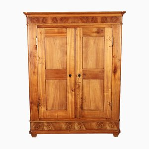 Antique German Biedermeier Cherrywood Armoire
