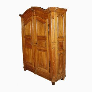 Solid Walnut Baroque Cabinet, 1800s