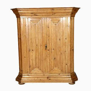 18th Century Rustic Wavy Cabinet in Softwood