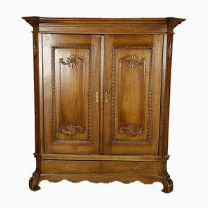 Antique Baroque Oak Cabinet