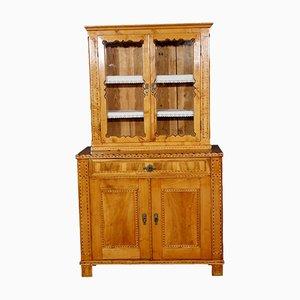 Antiker Biedermeier Schrank aus Holz mit Intarsien