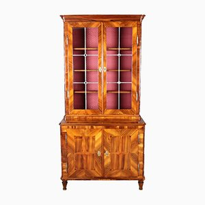 Antique Baroque Walnut Display Cabinet